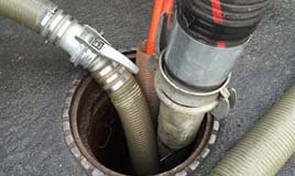 cleaning sewer