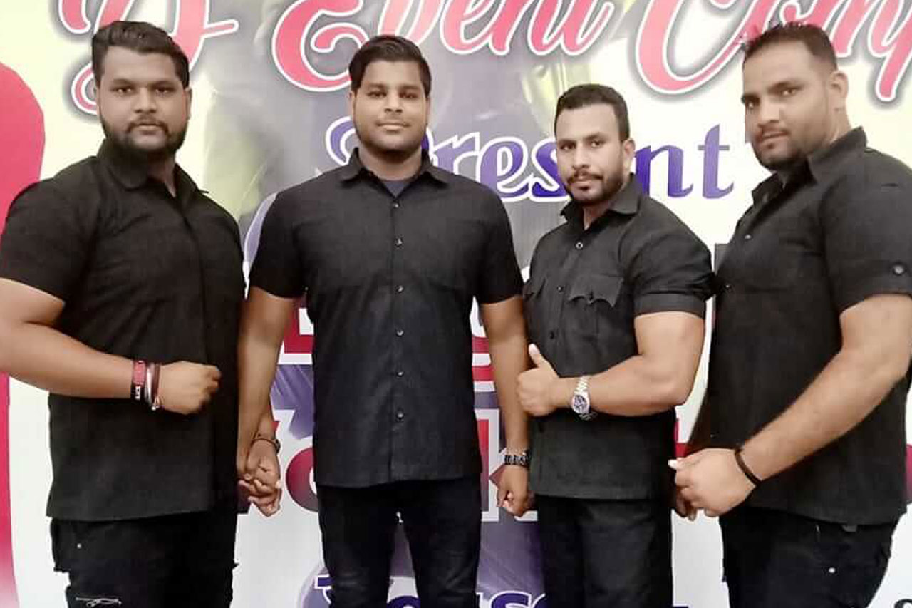 bouncers standing together