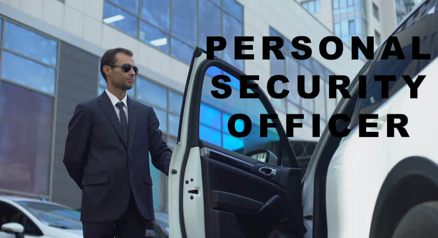 personal security officer opening car door
